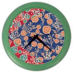 Floral Seamless Pattern Vector Texture Color Wall Clocks