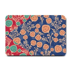 Floral Seamless Pattern Vector Texture Small Doormat