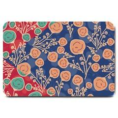 Floral Seamless Pattern Vector Texture Large Doormat