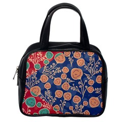 Floral Seamless Pattern Vector Texture Classic Handbags (one Side)