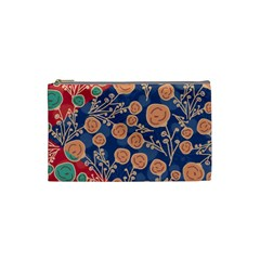 Floral Seamless Pattern Vector Texture Cosmetic Bag (Small)