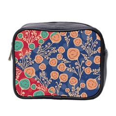 Floral Seamless Pattern Vector Texture Mini Toiletries Bag 2-Side