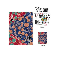 Floral Seamless Pattern Vector Texture Playing Cards 54 (Mini)