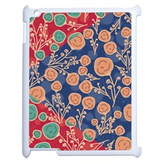 Floral Seamless Pattern Vector Texture Apple iPad 2 Case (White)