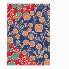 Floral Seamless Pattern Vector Texture Small Garden Flag (Two Sides)