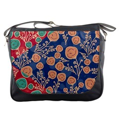 Floral Seamless Pattern Vector Texture Messenger Bags