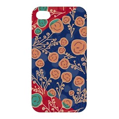 Floral Seamless Pattern Vector Texture Apple Iphone 4/4s Premium Hardshell Case