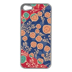 Floral Seamless Pattern Vector Texture Apple Iphone 5 Case (silver)