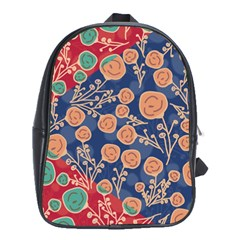 Floral Seamless Pattern Vector Texture School Bags (xl)