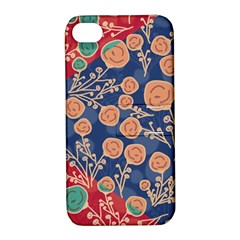 Floral Seamless Pattern Vector Texture Apple Iphone 4/4s Hardshell Case With Stand