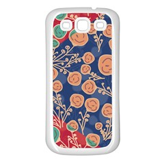 Floral Seamless Pattern Vector Texture Samsung Galaxy S3 Back Case (white)