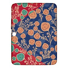 Floral Seamless Pattern Vector Texture Samsung Galaxy Tab 3 (10.1 ) P5200 Hardshell Case