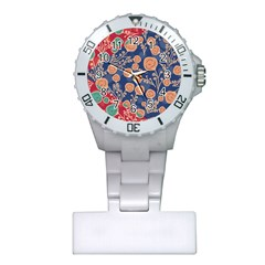 Floral Seamless Pattern Vector Texture Plastic Nurses Watch