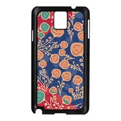 Floral Seamless Pattern Vector Texture Samsung Galaxy Note 3 N9005 Case (Black)
