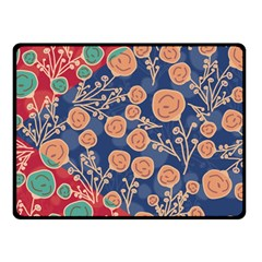 Floral Seamless Pattern Vector Texture Double Sided Fleece Blanket (small)