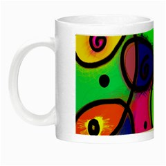 Digitally Painted Colourful Abstract Whimsical Shape Pattern Night Luminous Mugs