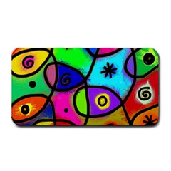 Digitally Painted Colourful Abstract Whimsical Shape Pattern Medium Bar Mats