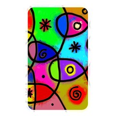 Digitally Painted Colourful Abstract Whimsical Shape Pattern Memory Card Reader