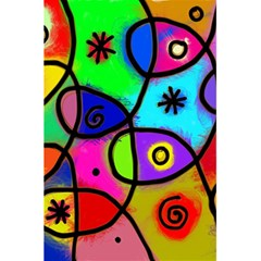 Digitally Painted Colourful Abstract Whimsical Shape Pattern 5 5  X 8 5  Notebooks