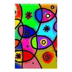 Digitally Painted Colourful Abstract Whimsical Shape Pattern Shower Curtain 48  X 72  (small)