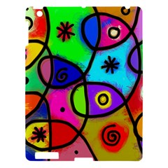 Digitally Painted Colourful Abstract Whimsical Shape Pattern Apple Ipad 3/4 Hardshell Case