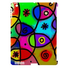 Digitally Painted Colourful Abstract Whimsical Shape Pattern Apple Ipad 3/4 Hardshell Case (compatible With Smart Cover)