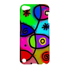 Digitally Painted Colourful Abstract Whimsical Shape Pattern Apple Ipod Touch 5 Hardshell Case