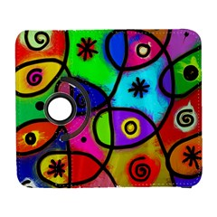 Digitally Painted Colourful Abstract Whimsical Shape Pattern Galaxy S3 (Flip/Folio)