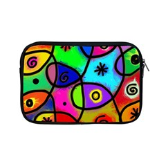 Digitally Painted Colourful Abstract Whimsical Shape Pattern Apple iPad Mini Zipper Cases