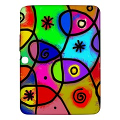 Digitally Painted Colourful Abstract Whimsical Shape Pattern Samsung Galaxy Tab 3 (10.1 ) P5200 Hardshell Case