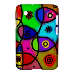 Digitally Painted Colourful Abstract Whimsical Shape Pattern Samsung Galaxy Tab 2 (7 ) P3100 Hardshell Case
