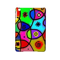 Digitally Painted Colourful Abstract Whimsical Shape Pattern Ipad Mini 2 Hardshell Cases
