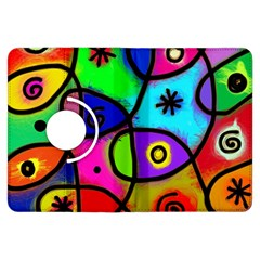 Digitally Painted Colourful Abstract Whimsical Shape Pattern Kindle Fire HDX Flip 360 Case
