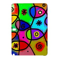 Digitally Painted Colourful Abstract Whimsical Shape Pattern Samsung Galaxy Tab Pro 12 2 Hardshell Case