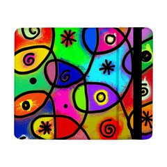 Digitally Painted Colourful Abstract Whimsical Shape Pattern Samsung Galaxy Tab Pro 8.4  Flip Case
