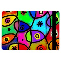 Digitally Painted Colourful Abstract Whimsical Shape Pattern Ipad Air 2 Flip