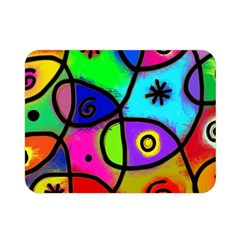 Digitally Painted Colourful Abstract Whimsical Shape Pattern Double Sided Flano Blanket (Mini)
