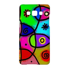 Digitally Painted Colourful Abstract Whimsical Shape Pattern Samsung Galaxy A5 Hardshell Case