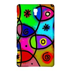Digitally Painted Colourful Abstract Whimsical Shape Pattern Samsung Galaxy Tab S (8.4 ) Hardshell Case