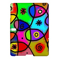Digitally Painted Colourful Abstract Whimsical Shape Pattern Samsung Galaxy Tab S (10.5 ) Hardshell Case