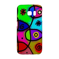 Digitally Painted Colourful Abstract Whimsical Shape Pattern Galaxy S6 Edge
