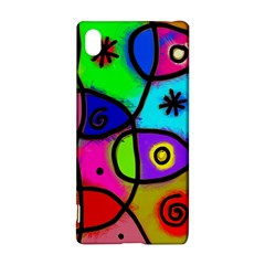 Digitally Painted Colourful Abstract Whimsical Shape Pattern Sony Xperia Z3+