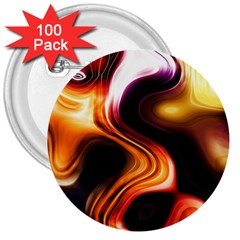 Colourful Abstract Background Design 3  Buttons (100 pack)