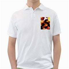 Colourful Abstract Background Design Golf Shirts