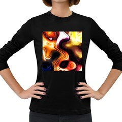Colourful Abstract Background Design Women s Long Sleeve Dark T-Shirts