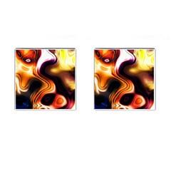 Colourful Abstract Background Design Cufflinks (Square)