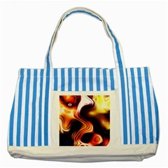 Colourful Abstract Background Design Striped Blue Tote Bag