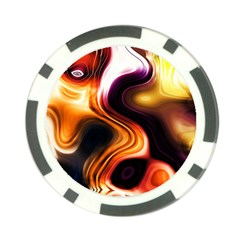 Colourful Abstract Background Design Poker Chip Card Guard