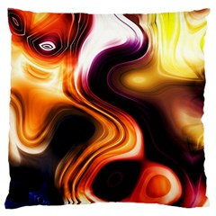Colourful Abstract Background Design Large Flano Cushion Case (one Side)