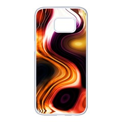 Colourful Abstract Background Design Samsung Galaxy S7 Edge White Seamless Case